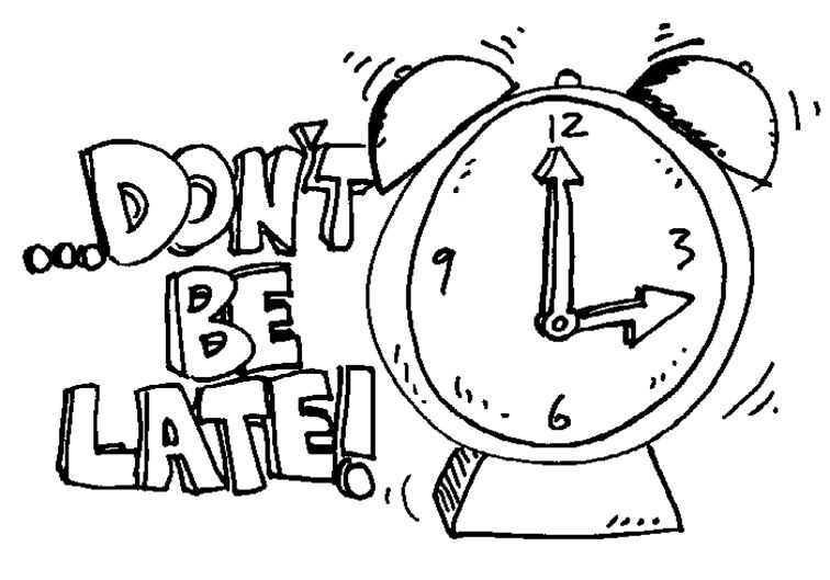 Dont Be Late